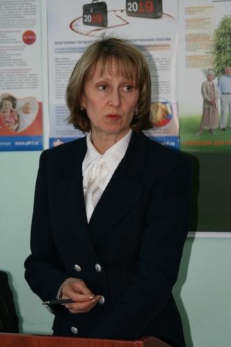 Заместитель Управляющего отделения Пенсионного Фонда по Удмуртской Республики С.В.Адаева.