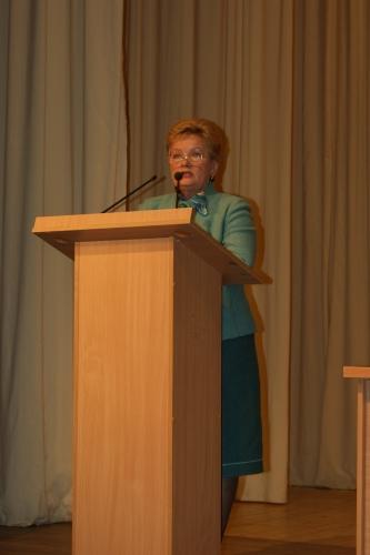 Выступление Судариковой Н.А. - председателя комиссии по образованию и науки Госсовета УР.